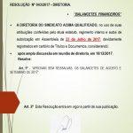Resoluções da Diretoria 043-2017