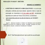 Resoluções da Diretoria 045-2017
