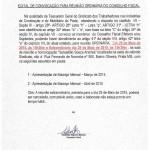 Edital Reunião Conselho Fiscal - Maio 2015